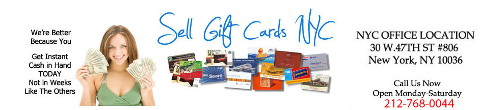 Sell Gift Cards NYC